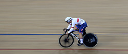 Ryan Owens of Great Britain during the Men's Sprint 1/16 Finals during day three of the Tissot UCI Track Cycling World Cup at Lee Valley VeloPark, London.