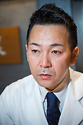 Master chef Keita Tarikino at restaurant Kappou Ukai in Ginza, Tokyo