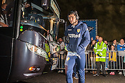 Leeds United player Alex Mowatt arrives at the AMEX before  the EFL Sky Bet Championship match between Brighton and Hove Albion and Leeds United at the American Express Community Stadium, Brighton and Hove, England on 9 December 2016. Photo by Bennett Dean.