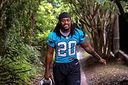 Carolina Panthers running back Jordan Scarlett(20) during minicamp at Bank of America Stadium, Thursday, June 13, 2019, in Charlotte, NC. (Brian Villanueva/Image of Sport)