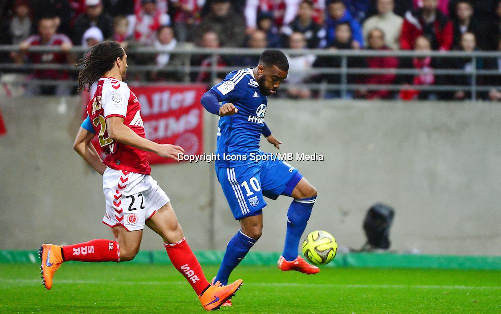 But Alexandre LACAZETTE - 26.04.2015 - Reims / Lyon - 34eme journee de Ligue 1<br />Photo : David Winter / Icon Sport