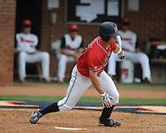 Mississippi's Taylor Hashman (27) bats vs. St. John's  during an NCAA Regional game at Davenport Field in Charlottesville, Va. on Sunday, June 6, 2010.