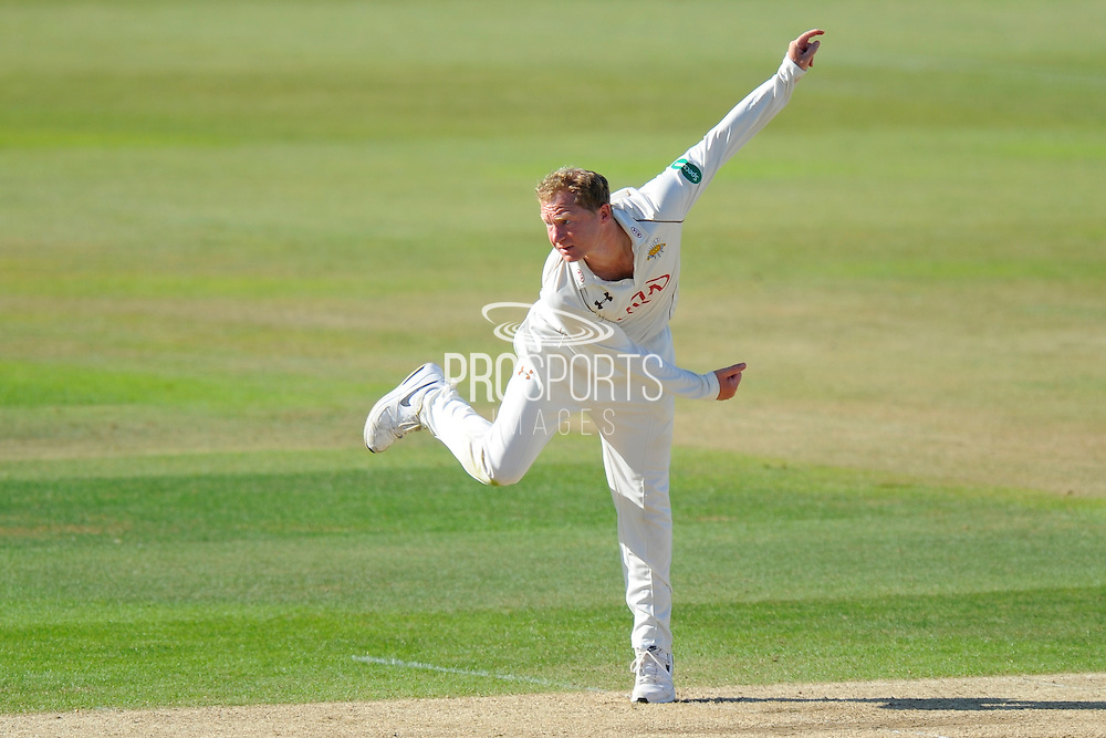 Surrey's Gareth Batty during the Specsavers County Champ Div 1 match between Hampshire County Cricket Club and Surrey County Cricket Club at the Ageas Bowl, Southampton, United Kingdom on 18 July 2016. Photo by Graham Hunt.