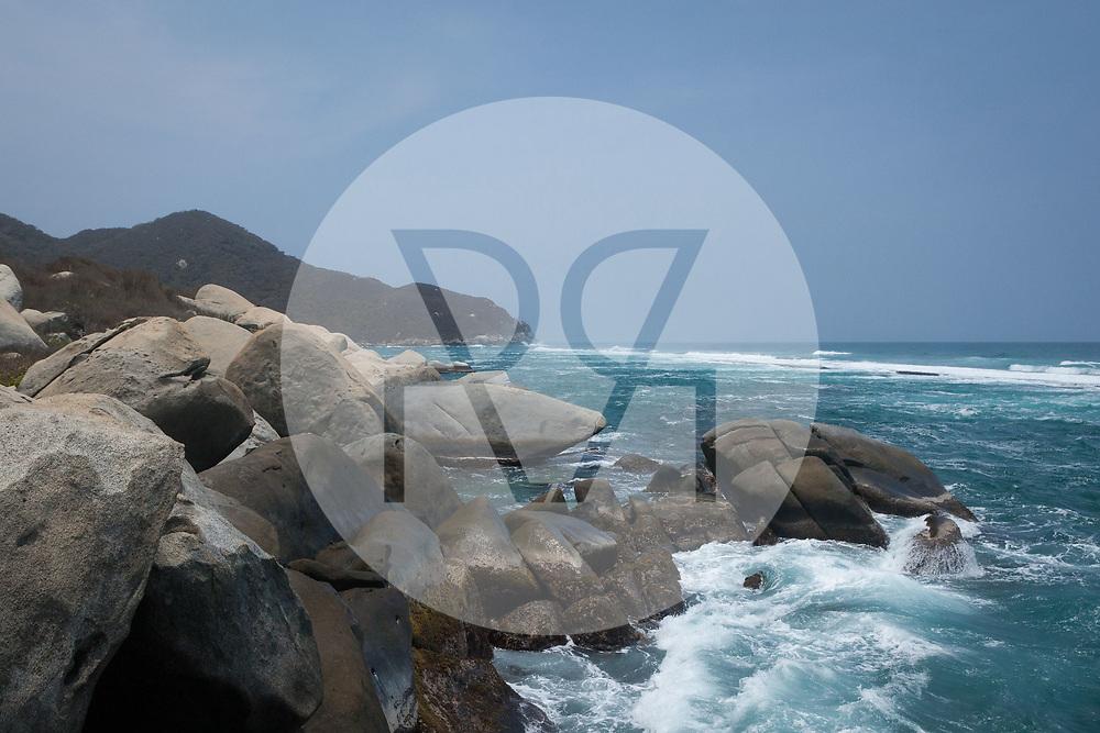 KOLUMBIEN - PARK TAYRONA - Strand in 'El Cabo de San Juan' im Tayrona Nationalpark -  08. April 2014 © Raphael Hünerfauth - http://huenerfauth.ch