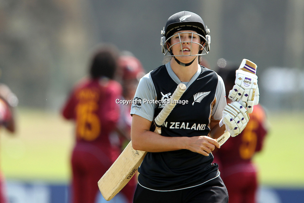 Sara McGlashan departs as The West Indies celebrate her wicketduring the ICC Women's World Twenty20 - between The West Indies and New Zealand held at the Galle International Stadium in Galle, Sri Lanka on the 26th September 2012<br /> <br /> Photo by Ron Gaunt/SPORTZPICS/PHOTOSPORT