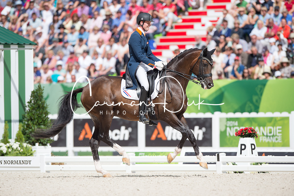 Diederik Van Silfhout, (NED), Arlando NH NOP - Freestyle Grand Prix Dressage - Alltech FEI World Equestrian Games&trade; 2014 - Normandy, France.<br /> &copy; Hippo Foto Team - Jon Stroud<br /> 25/06/14