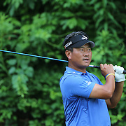 K.J. Choi, South Korea, in action during the final round of the Travelers Championship at the TPC River Highlands, Cromwell, Connecticut, USA. 22nd June 2014. Photo Tim Clayton