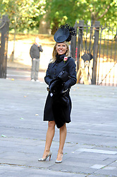 ALICE BAMFORD at the memorial service of Isabella Blow held at the Guards Chapel, London W1 on 18th September 2007.<br />