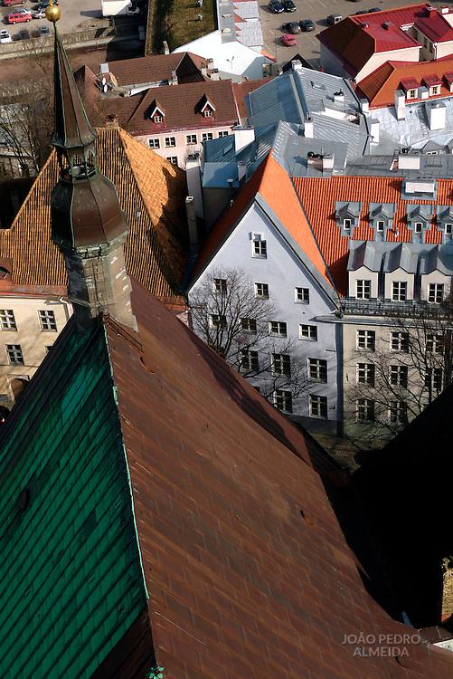 City view from Tallinn's Olaviste Cathedral