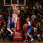 27 February 2018: San Diego State men's basketball hosts Boise State in their last meet up of the regular season at Viejas Arena. San Diego State Aztecs forward Matt Mitchell (11) swats away an alley-ooo attempts to Boise State Broncos guard Chandler Hutchison (15) in the second half. The Aztecs beat the Broncos 72-64.  <br /> More game action at sdsuaztecphotos.com