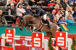 GULLIKSEN Geir (NOR), VDL Groep Quatro<br /> Leipzig - Partner Pferd 2020<br /> IDEE Kaffee-Preis<br /> Springprfg. nach Fehlern und Zeit, int.<br /> 17. Januar 2020<br /> © www.sportfotos-lafrentz.de/Stefan Lafrentz