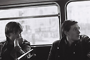 Teenagers on the bus, London, UK, 1981