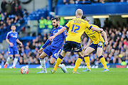 Chelsea's Cesc Fàbregas on the ball during the The FA Cup third round match between Chelsea and Scunthorpe United at Stamford Bridge, London, England on 10 January 2016. Photo by Shane Healey.