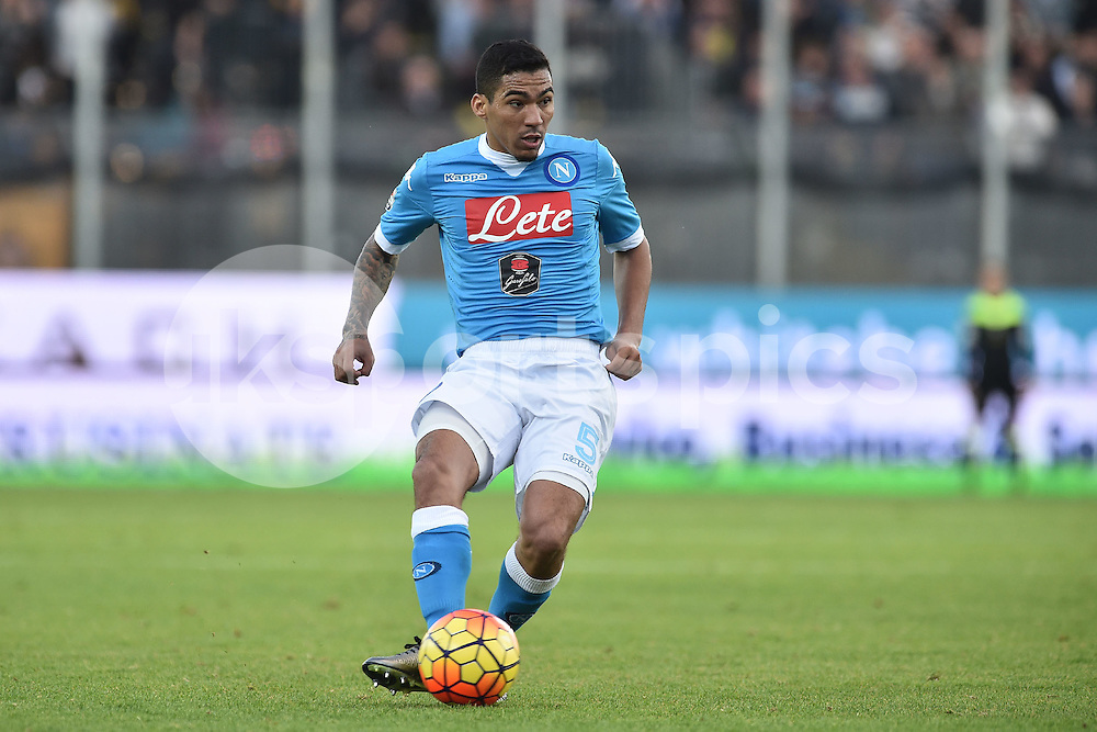 Allan of Napoli during the Serie A TIM match between Frosinone and Napoli at Stadio Matusa, Frosinone, Italy on 10 January 2016. Photo by Giuseppe Maffia.