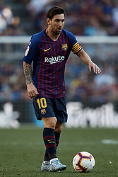 September 29, 2018 - Barcelona, Barcelona, Spain - Leo Messi of FC Barcelona in action during the La Liga match between FC Barcelona and Athletic Club de Bilbao at Camp Nou on September 29, 2018 in Barcelona, Spain  (Credit Image: © David Aliaga/NurPhoto/ZUMA Press)