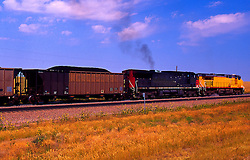 Freight Train Hauling Coal