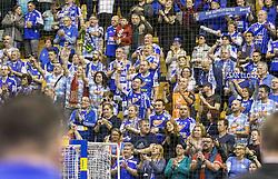Fans of MOL Pick Zseged during VELUX EHF Champions League handball match between RK Celje Pivovarna Lasko vs MOL Pick Szegad on the February 10. 2019, Celje, Slovenia. Photo by Matic Ritonja / Sportida
