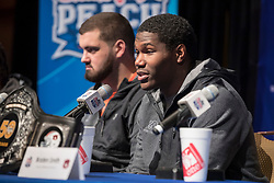 General images during the Auburn Tigers news conference, December 30, 2017, in Atlanta. Auburn will face UCF in the Chick-fil-A Peach Bowl on January 1, 2018. (Paul Abell via Abell Images for Chick-fil-A Peach Bowl)