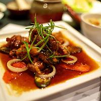 Entree: Agedori Ankake (garlic fried chicken glazed in Katsu special sauce).