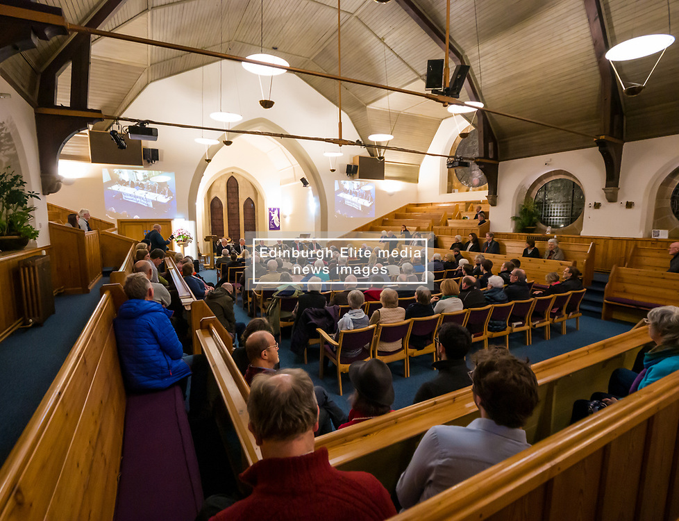 North Berwick, East Lothian, Scotland, United Kingdom, 28 November 2019. General Election: First hustings for the 5 candidates seeking election as MP for East Lothian with questions from the audience ranging from Defence to Honesty. Sally Anderson | EdinburghElitemedia.co.uk