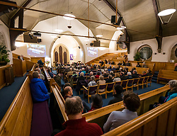 North Berwick, East Lothian, Scotland, United Kingdom, 28 November 2019. General Election: First hustings for the 5 candidates seeking election as MP for East Lothian with questions from the audience ranging from Defence to Honesty. Sally Anderson   EdinburghElitemedia.co.uk