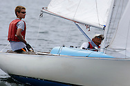 _V0A8304. ©2014 Chip Riegel / www.chipriegel.com. The 2014 Bullseye Class National Regatta, Fishers Island, NY, USA, 07/19/2014. The Bullseye is a Nathaniel Herreshoff designed 15' Marconi rig sailing boat.
