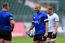 Jonathan Joseph looks on, Bath Rugby were allowed to start Stage Two of the Premiership Rugby return to play protocol - Mandatory byline: Patrick Khachfe/JMP - 07966 386802 - 06/08/2020 - RUGBY UNION - The Recreation Ground - Bath, England - Bath Rugby training
