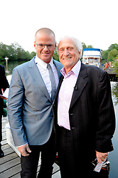 Left to right, HESTON BLUMENTHAL and MICHEL ROUX at a party to celebrate The Waterside Inn's 25 years as a 3 star Michelin restaurant held at The Waterside Inn, Bray, Berkshire on 18th May 2010.