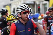 Sir Bradley Wiggins before the London Stage of the Aviva Tour of Britain, Regent Street, London, United Kingdom on 13 September 2015. Photo by Ellie Hoad.