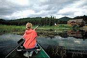 Canoeing near Seeley Lake, Montana