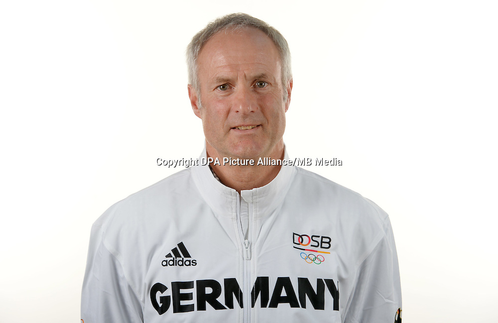Hans Heinrich poses at a photocall during the preparations for the Olympic Games in Rio at the Emmich Cambrai Barracks in Hanover, Germany. July 04, 2016. Photo credit: Frank May/ picture alliance.   usage worldwide
