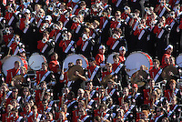 Marching band peps ups the crowd during a football game. PHOTO BY ROGER WINSTEAD