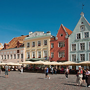 Raekoja Plats (Town Hall Square) in Tallinn, Estonia