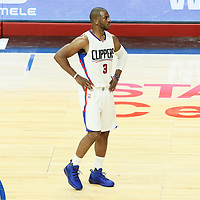 30 April 2017: LA Clippers guard Chris Paul (3) is seen during the Utah Jazz 104-91 victory over the Los Angeles Clippers, during game 7 of the first round of the Western Conference playoffs, at the Staples Center, Los Angeles, California, USA.