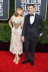January 6, 2019 - Beverly Hills, California, U.S. - JOANNA NEWSOME and ANDY SAMBERG during red carpet arrivals for the 76th Annual Golden Globe Awards at The Beverly Hilton Hotel. (Credit Image: © Kevin Sullivan via ZUMA Wire)