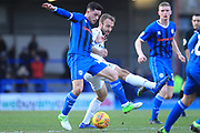 Ian Henderson wins the ball during the EFL Sky Bet League 1 match between Rochdale and Coventry City at Spotland, Rochdale, England on 9 February 2019.