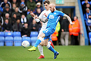 Peterborough Utd forward Marcus Maddison (21) gets in a shot during the EFL Sky Bet League 1 match between Peterborough United and Coventry City at London Road, Peterborough, England on 16 March 2019.