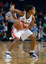 Virginia Cavaliers G Kristen London (20)..The Virginia Cavaliers women's basketball team fell to the #14 ranked George Washington Colonials 70-68 at the John Paul Jones Arena in Charlottesville, VA on November 12, 2007.
