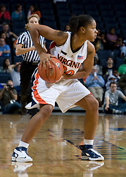 Virginia Cavaliers G Kristen London (20)..The Virginia Cavaliers women's basketball team fell to the #14 ranked George Washington Colonials 70-68 at the John Paul Jones Arena in Charlottesville, VA on November 12, 2007.