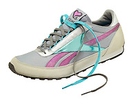 reebok teal and pink running shoe