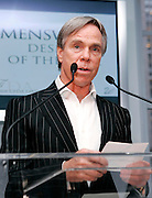Designer Tommy Hilfiger speaks at the 2008 CFDA Fashion Awards Nominee Announcement in the Rooftop Gardens at Rockefeller Center  in New York City, USA on March 10, 2008.