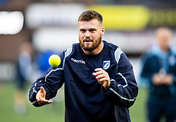 Owen Lane of Cardiff Blues during the pre match warm up<br /> <br /> Photographer Simon King/Replay Images<br /> <br /> Guinness PRO14 Round 2 - Cardiff Blues v Edinburgh - Saturday 5th October 2019 -Cardiff Arms Park - Cardiff<br /> <br /> World Copyright © Replay Images . All rights reserved. info@replayimages.co.uk - http://replayimages.co.uk