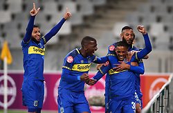 Cape Town-180804 Cape Town City players celebrate Craig Martins goalagainst Supersport in the first game of the 2018/2019 season at Cape Town Stadium.photograph:Phando Jikelo/African News Agency/ANAr