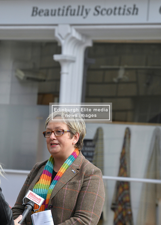 Pictured: Joanna Cherry MP after winning her appeal.<br /> <br /> Court of Session, today upheld an appeal from a cross party group of politicians seeking to declare the UK government and Prime Minister Boris Johnson acted unlawfully in proroguing parliament.<br /> <br /> © Dave Johnston / EEm