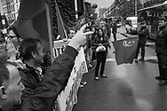 BELGIUM, Brussels; 1/05/2014: Extreme Left groups demonstrating during Labour Day.