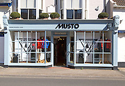 Musto clothes shop, Aldeburgh, Suffolk, England, UK