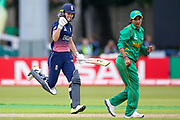 England womens cricket player Natalie Sciver  celebrates her 100 and century during the ICC Women's World Cup match between England and Pakistan at the Fischer County Ground, Grace Road, Leicester, United Kingdom on 27 June 2017. Photo by Simon Davies.
