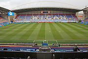 General view of DW Stadium, EFL Sky Bet Championship match between Wigan Athletic and Huddersfield Town at the DW Stadium, Wigan, England on 14 December 2019.