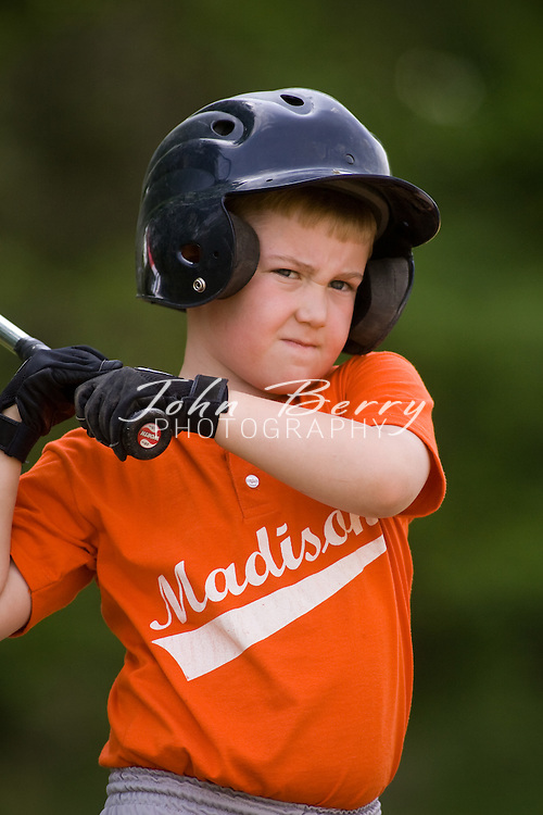 MPR Rookie League Baseball .Orange vs White Game Action .5/3/2008..