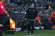 Marcelo Bielsa of Leeds United (Manager) during the EFL Sky Bet Championship match between Leeds United and West Bromwich Albion at Elland Road, Leeds, England on 1 March 2019.